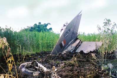 Катастрофа МиГ-21 индийских ВВС.