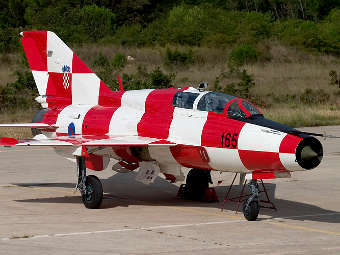 МиГ-21 ВВС Хорватии. Фото с сайта erenstein.org