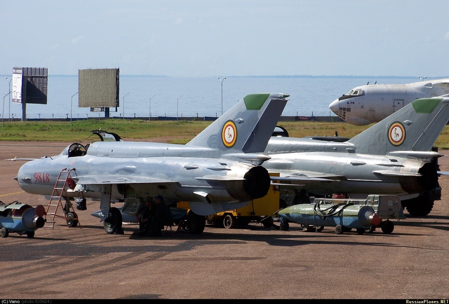 МиГ-21-200 ВВС Уганды, модернизированные подразделением Lahav компании Israel Aircraft Industries. Источник: far-maroc.forumpro.fr