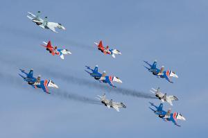 """Пилотажная группа """"Стрижи"""" на МиГ-29"""
