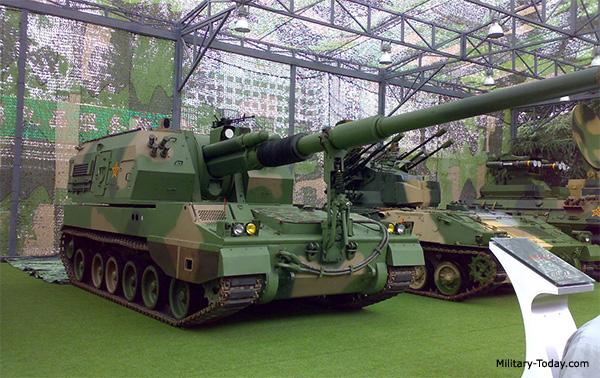 Китайская 35-тонная САУ PLZ 05 калибра 155 мм.