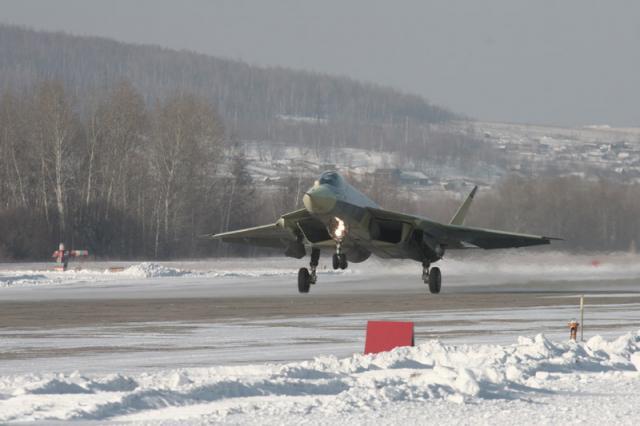 Истребитель Су-57 (ПАК ФА)