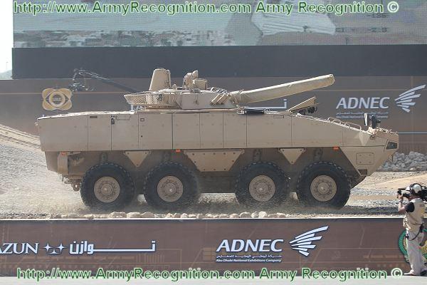 Patria AMV с башней БМП-3 на выставке IDEX 2011. Источник: www.militaryphotos.net.