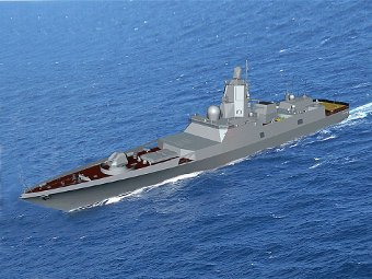 Фрегат проекта 22350. Изображение с сайта navalshow.ru