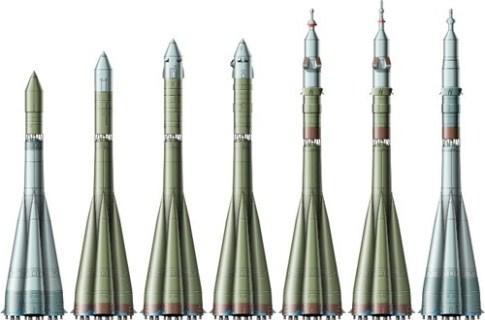 Ракеты носители ОКБ-1 - ЦСКБ - Прогресс, разработанные на базе Р-7. Источник: spaceavia.ru<br><br>.