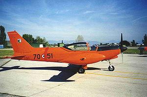 Учебно-тренировочный самолет Alenia Aermacchi SF-260F.