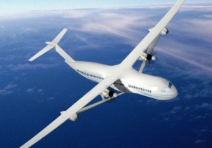 "Концепт электрического самолета от Boeing и NASA ""Subsonic Ultra Green Aircraft Research (SUGAR) Volt concept""."