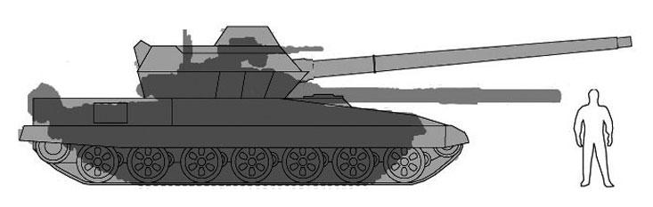 Боковые проекции Т-90 и Т-95. Опубликовано в газете &quot;Военно-промышленный курьер&quot; в выпуске № 42 (459) за 24 октября 2012 года<br><br>.