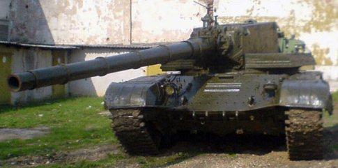 Экспериментальная установка 2А83 на шасси Т-72.