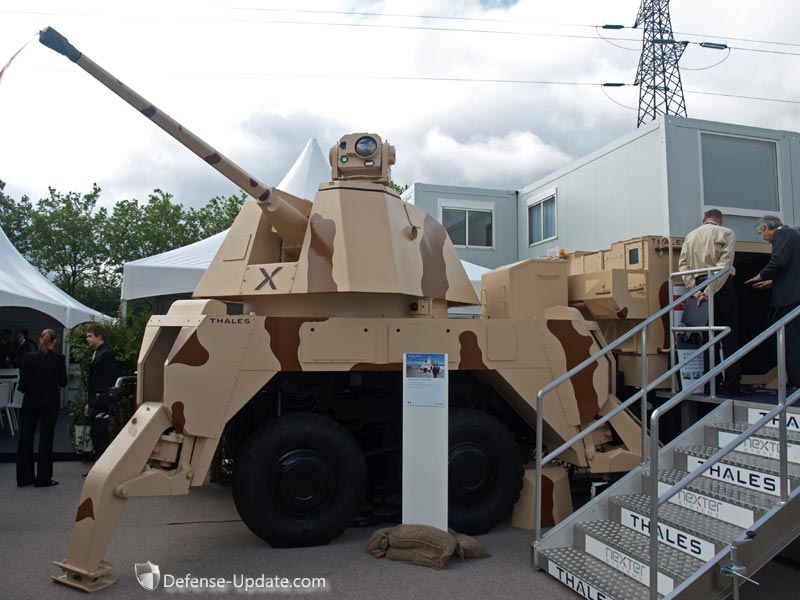 Новая мобильная артиллерийская система ПВО RAPIDFire разработанная компаниями Thales, Nexter и англо-французской совместной компанией CTA.