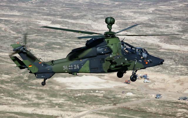 Вертолет Eurocopter Tiger ВВС Германии.  Источник: Rex Features.