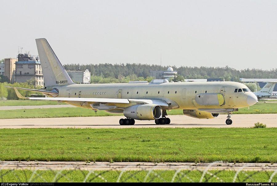 Головной самолет комплексной разведки Ту-214Р (регистрационный номер RA-64511, заводской номер 42305011, серийный номер 511). Источник: russianplanes.net.