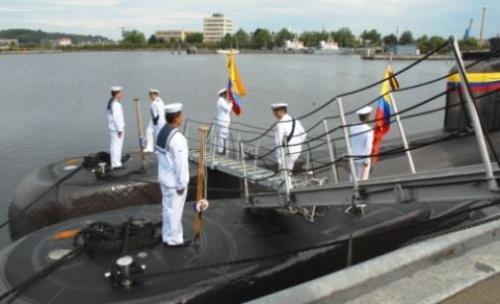 Церемония передачи ВМС Колумбии двух немецких подводных лодок Type 206A 28 августа 2012г. в Киле. Источник: www.altair.com.pl.