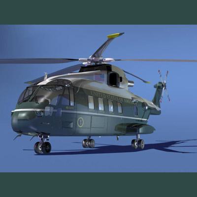 Вертолет US101, разработанный на базе AW101 компании AgustaWestland.