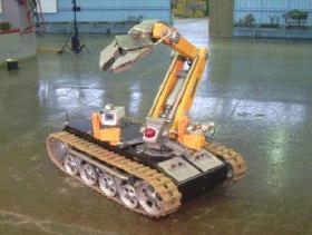 Многофункциональный мобильный робототехнический комплекс легкого класса ВАРАН производства КЭМЗ, фотография robotmobot.ru.