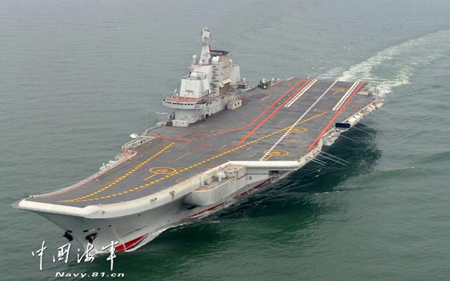 """Китайский авианосец «Ляонин» (бывший советский """"Варяг""""). Источник: news.mod.gov.cn"""