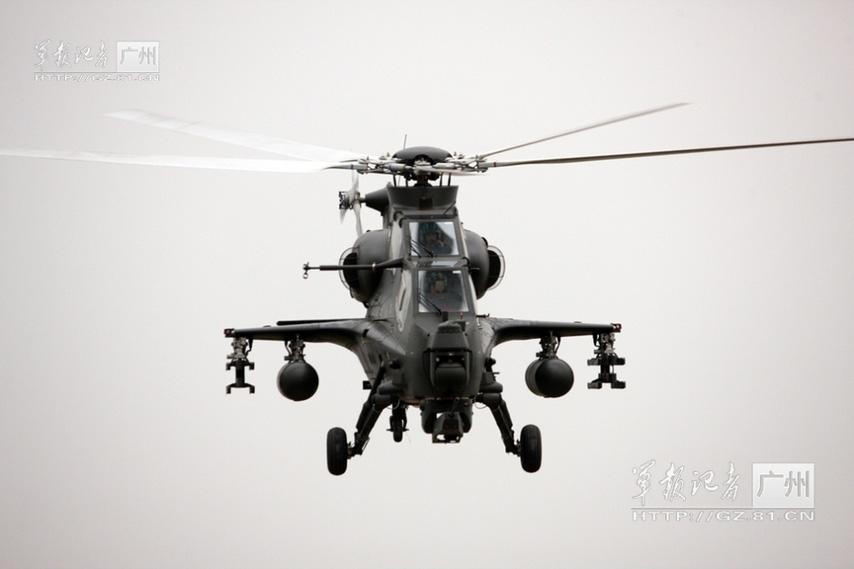 Китайский боевой вертолет WZ-10. Источник: People's Daily Online.