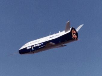 X-40A. Один из прототипов вернувшегося X-37B. Фото с сайта msfc.nasa.gov.