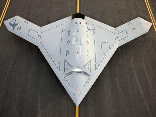 Прототип американского ударного БЛА Х-47B. Источник: Военный паритет