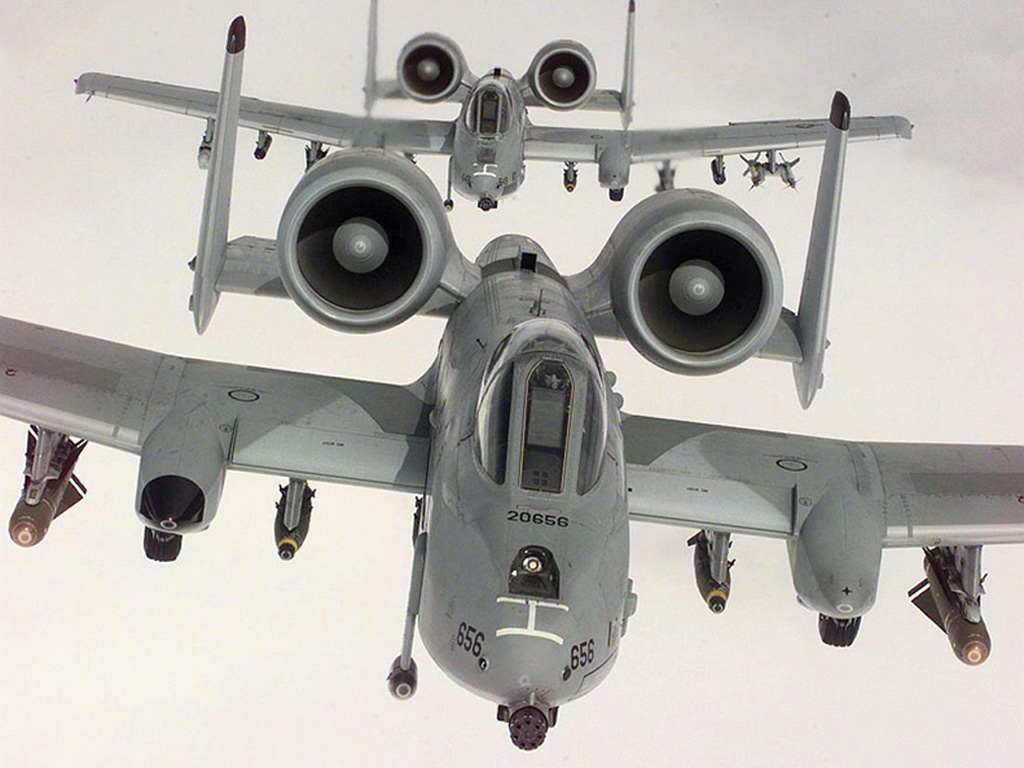 Штурмовики А-10 Thunderbolt.