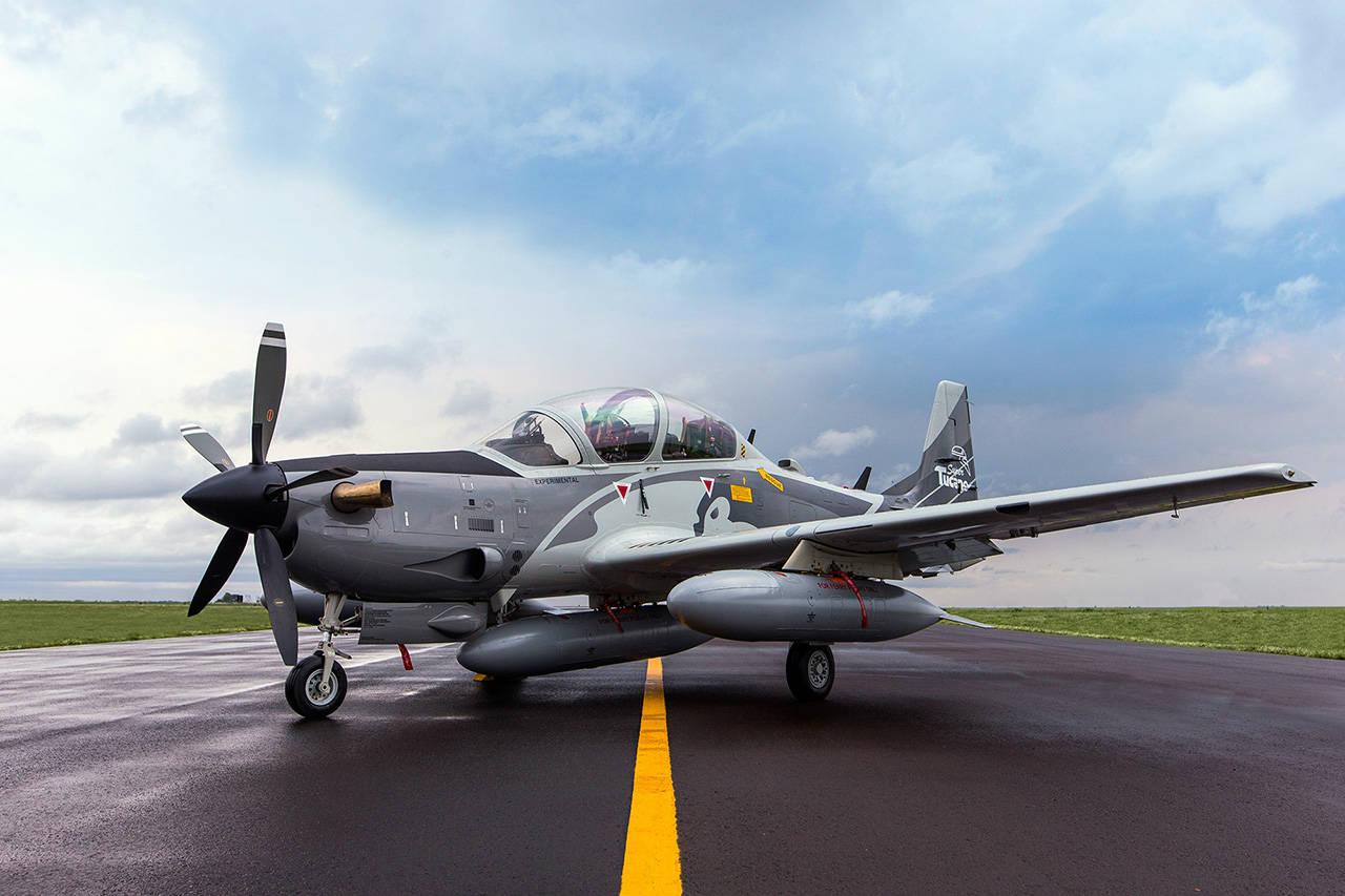 Демонстратор будущей версии штурмовика A-29B Super Tucano.