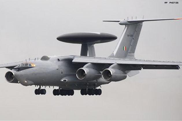 Самолет ДРЛО и управления А-50Э ВВС Индии