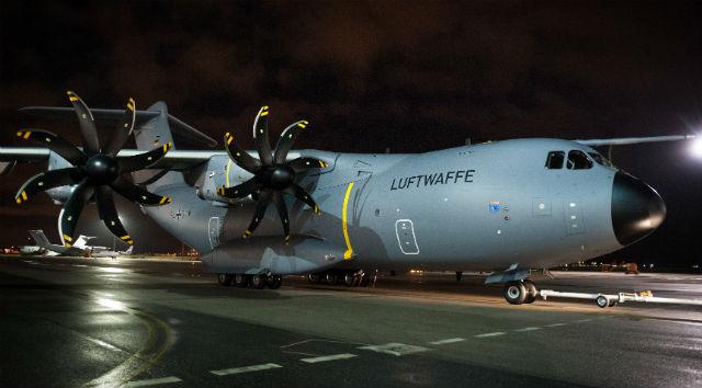 Тактический транспортный самолет А400М ВВС Германии.