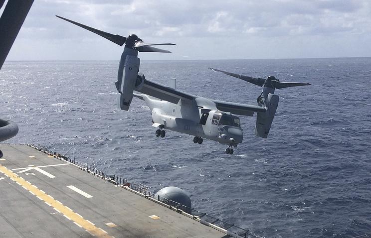 Конвертоплан MV-22 Osprey ВС США.