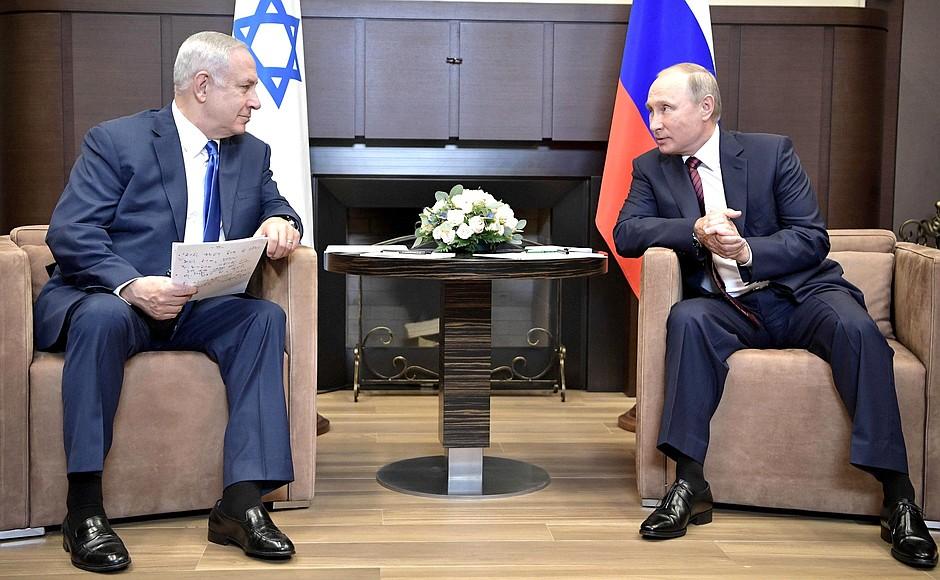 Встреча Президента России Владимира Путина с премьер-министром Израиля Биньямином Нетаньяху, 23.08.2017<br>.