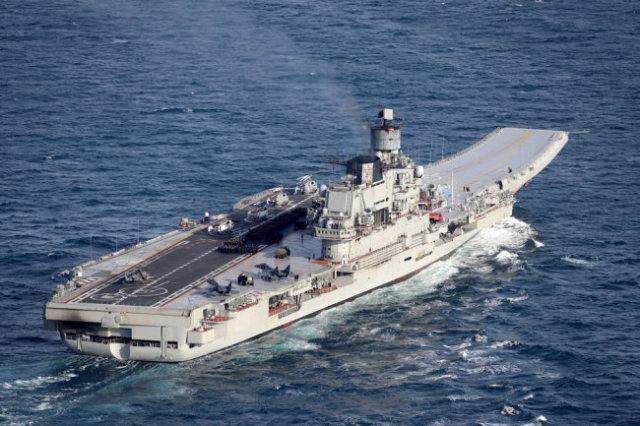 """""""Адмирал Кузнецов"""" пока является единственным российским авианесущим крейсером."""