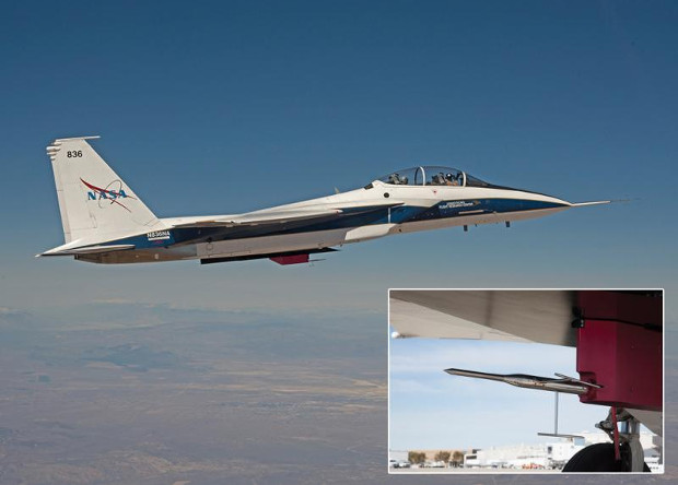 Aero Probe на истребителе F-15B.