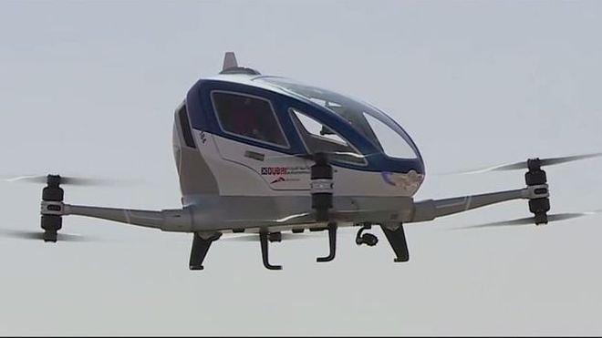 Летающая капсула Ehang 184 из Китая.