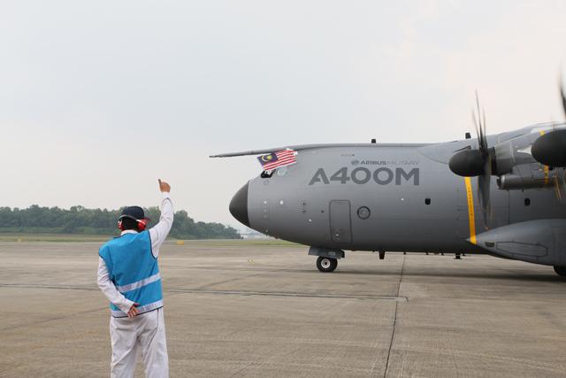 Самолет A-400M «Атлас» ВВС Малайзии.
