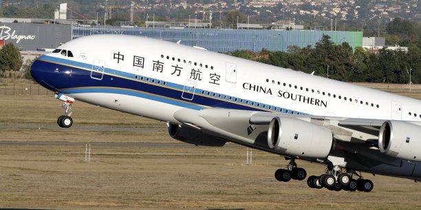 Пассажирский самолет сверхбольшой вместимости Airbus A380 китайской авиакомпании China Southern.
