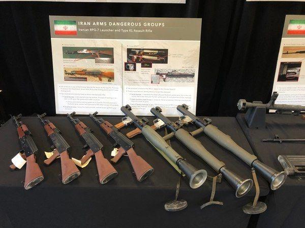 АК-47 и гранатометы иранского происхождения