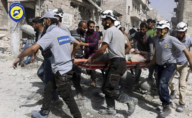 """Активисты из организации """"Белые каски"""" в Алеппо, Сирия. 21 сентября 2016 год"""