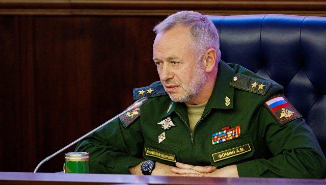 Заместитель министра обороны РФ Александр Фомин на пресс-конференции по итогам форума Армия-2017. 30 августа 2017.