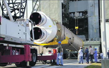 Американские ракеты летают в космос на лучших российских двигателях. Фото с сайта www.roscosmos.ru