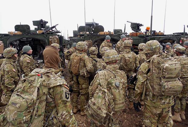 Американские военнослужащие на учениях в Эстонии весной 2015 года