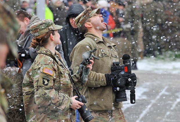 Американские военнослужащие в Жагани, Польша.