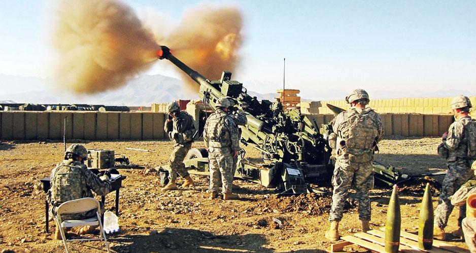 Американские артиллеристы.
