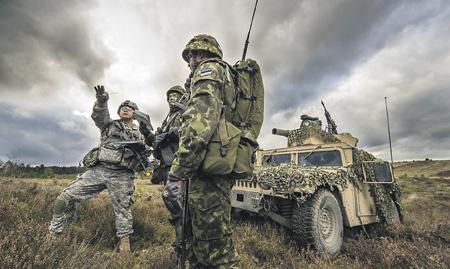 Американские инструкторы обучают европейских коллег умению эффективно применять на поле боя как информационные технологии, так и различные вооружения.