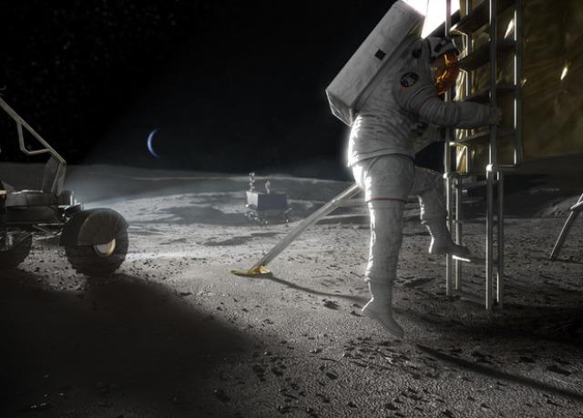 Американские компании помогут NASA в разработке лунной посадочной системы