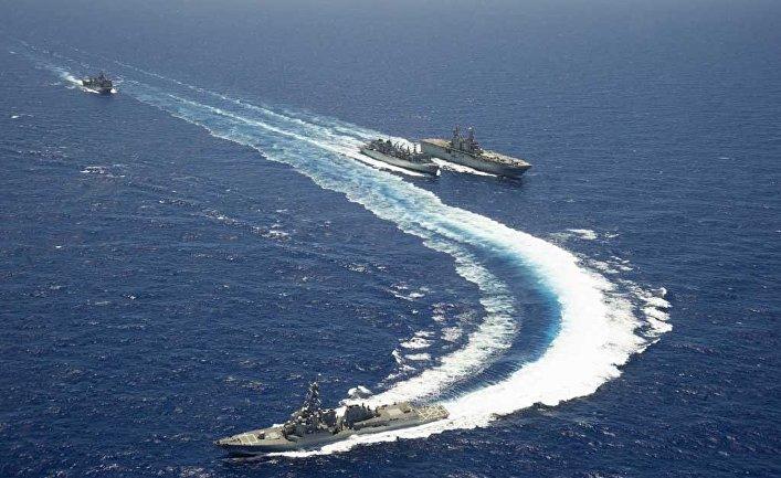 """Американские военные корабли на учениях """"Римпак-2014""""."""