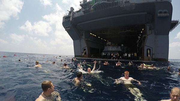 Американские военные в Аденском заливе