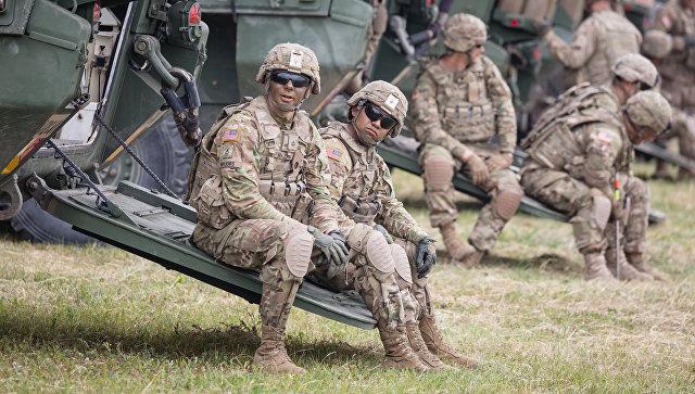 Американские военные во время учений в Польше. Архивное фото.