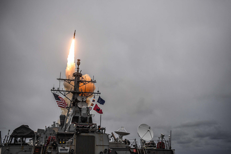 Американский эсминец USS Donald Cook.