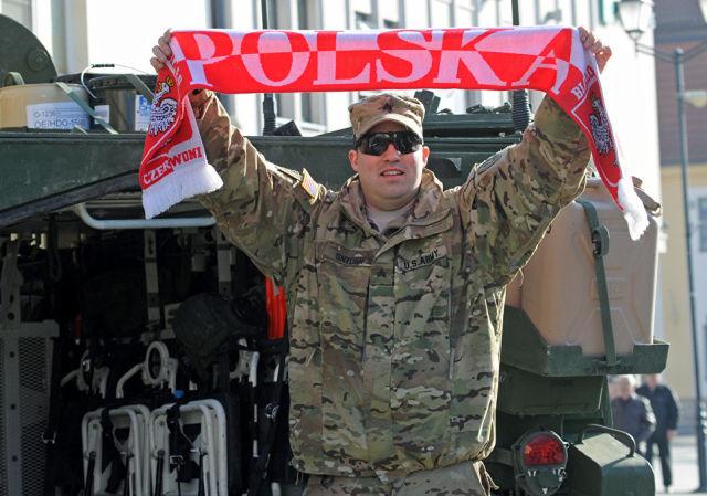 Американский военный в Польше