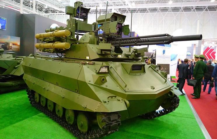 """Боевой робот """"Уран-9""""."""