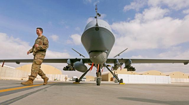 Американский БПЛА MQ-9 Reaper на базе Кандагар в Афганистане, январь 2018 года Omar Sobhani/Reuters